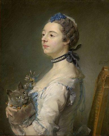 Magdaleine Pinceloup de la Grange z kotem kartuskim