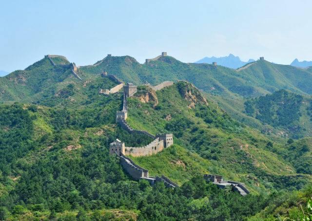 wielki mur chiński latem