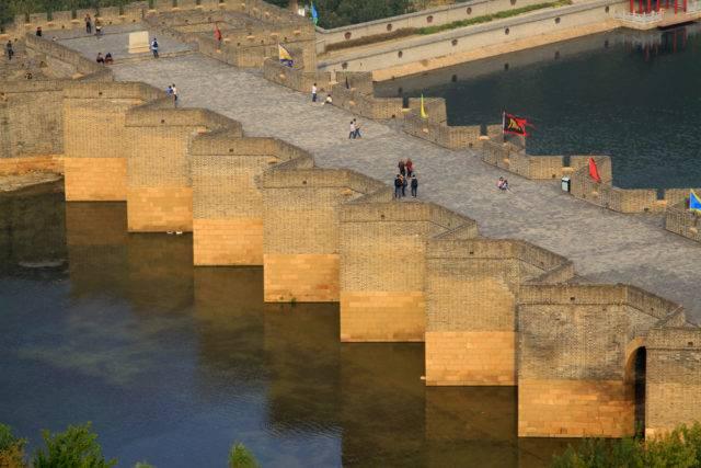 wielki mur chiński na wodzie