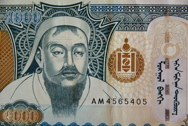 Czyngis-chan na banknocie