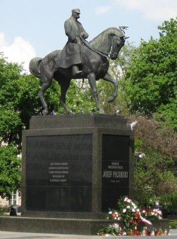 pomnik marszałka Józeła Piłsudskiego Lublin