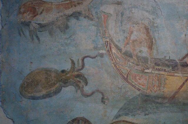 kałamarnica olbrzymia na fresku